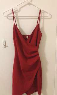 Red Wrap Dress From M Boutique