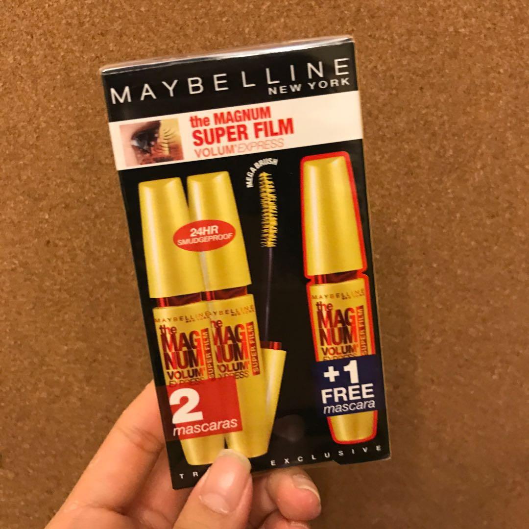 a942a3f95ba 100% NEW Maybelline Magnum Volum' Express Super Film Mascara 睫毛液 ...