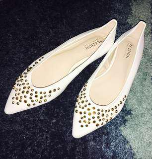 Pazzion Ladies Pumps/Flats with Gold Studs