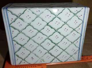 瓷枕 簡約線條 美美的古舊感