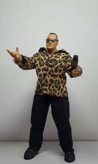 The Rock Jakks Pacific 12 inch 1/6 scale 30 cm WWE WWF wrestling action figure - Not Mattel