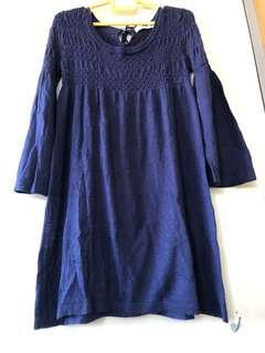 Navy blue Baby Doll Dress