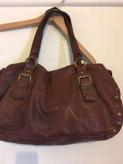 Witchery  Tan Leather  Handbag with Detail