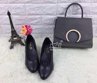 🚚 黑色包鞋(穿一次)尺寸22.5