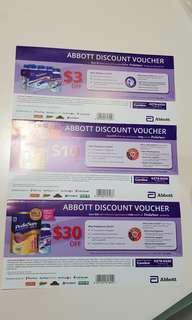 Abbott pediasure Discount Voucher $3, $10, 30