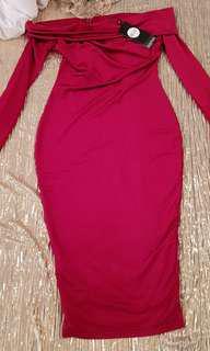 Boohoo flattering evening dress. Size 8- small fit