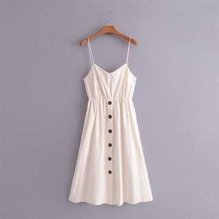 ON-HAND BRAND-NEW Button Up Knotted Dress