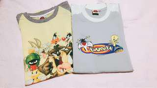💯Auth Looney Tunes Unisex Shirts ❗️Price for 2