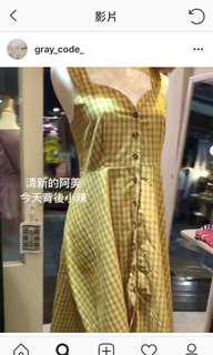 🚚 全新格子綁帶洋裝