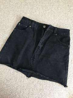 Black jeans miniskirt