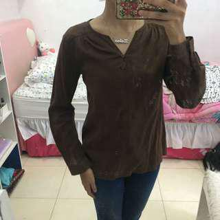 Brown shirt