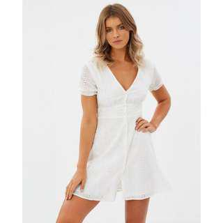 Atmos&Here Lara Broiderie Dress WHITE
