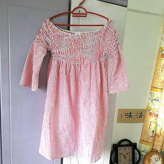 Pinky Off Shoulder Dress