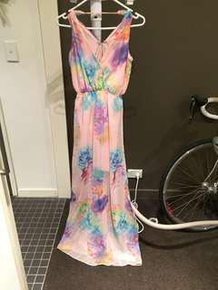 Dotti Floral Maxi Dress with side split