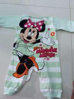 Jumper Minnie Mouse Warna Hijau Muda