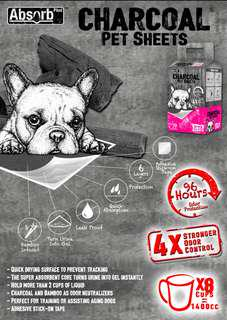 🚚 Absorb Charcoal Plus Pet Pee Pad