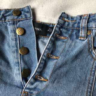 denim minkpink skirt