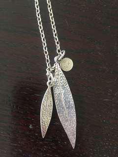 Karen Walker leaf necklace