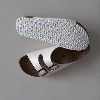 Brand New Male White Sandals (Birkenstock alike)