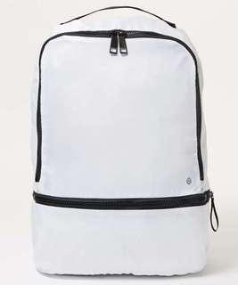 BN Lululemon White Go Lightly Backpack