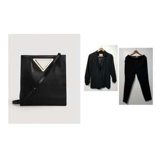 Bundle: Vero Moda suit + Mango Bag