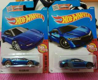 Hotwheels 車仔 Acura NSX '90 及 2017年款共兩架