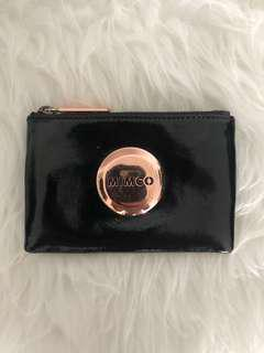 MIMCO Small Black and Rose Gold Pouch