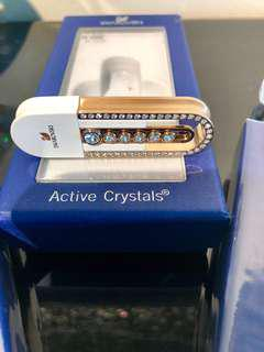 AUTHENTIC SWAROVSKI NEW LOVELY CRYSTALS USB MEMORY STICK GOLD 8GB