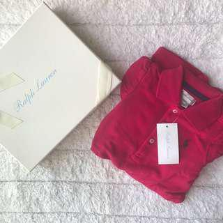 🚚 BN Ralph Lauren Baby Girl Hot Pink Signature Logo Dress With Diaper Cover! 12mths! With Gift Box!
