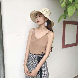 #under9 Brown Double Strap Cami TOP