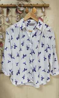 Dorothy Perkins Blue Swallow Button top