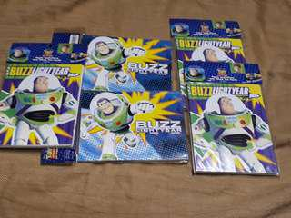 Buzz Lightyear invitation and thank you card