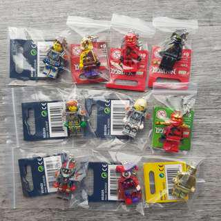 Lego Ninjago Nexo Knights Keychain Tags For Sale! NOT Lego Exclusive SDCC, Marvel, DC Comics Super Heroes Harry Potter, City, Batman, Creator, Friends, Pods, Mosaic, Castle, Brickheadz.