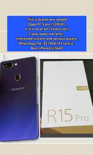 Brand new sealed Oppo R15 pro )128GB