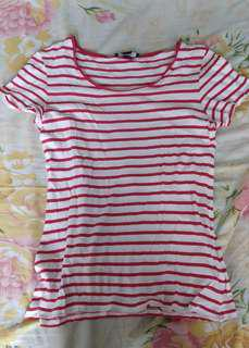 Forever 21 Red and White Striped Shirt