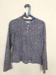 Crop Blouse Floral - S