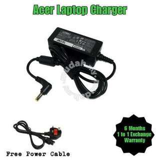 Acer Laptop Notebook Netbook Charger Adapter + Free Power Cable (All model)