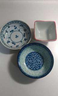 🚚 [鍋碗瓢盆005]全新厚質碗一組三個