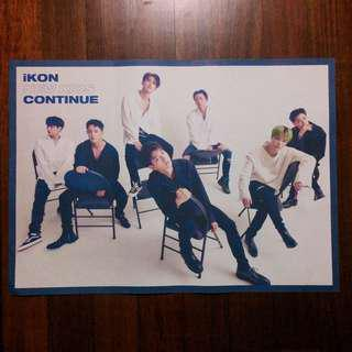 (WTS) IKON - CONTINUE POSTER