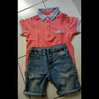 Kaos Gingersnap + Celana Jeans