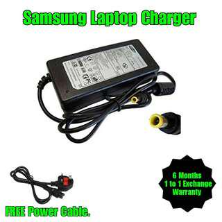 Samsung Laptop Notebook Netbook Monitor Charger Adapter + Free Power Cable (All Model)