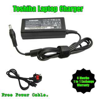 Toshiba Laptop Notebook Netbook Charger Adapter + Free Power Cable (All Model)