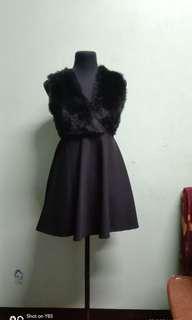 Gatsby Black Feather Dress