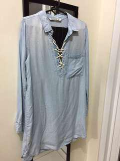 REPRICED Cotton On Chambray/Denim Dress