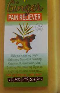 Ginger luya liniment pain reliever liniment