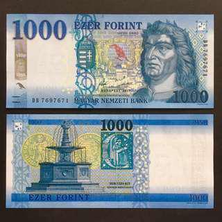 2017 HUNGARY 1,000 1000 FORINT P-NEW UNC