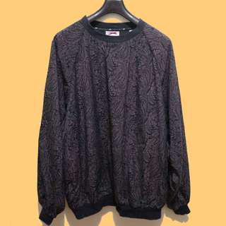 Paisley Print Pullover