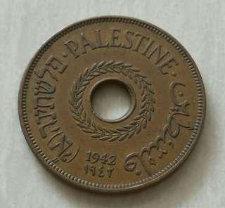 Palestine 1942 20 Mils Coin With Good Details