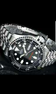 BNIB Seiko Diver SKX007K2 SKX007 SKX007K Stainless Steel Bracelet With 1 Year International Warranty Free Delivery