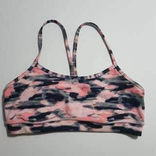 Pink Camo Y Flow bra